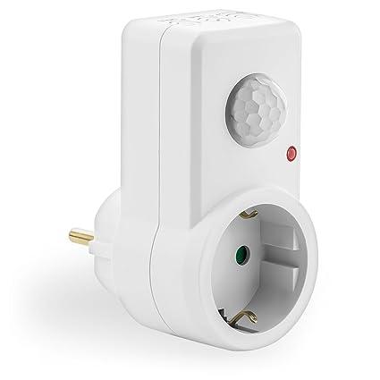 deleyCON MK898 Sensor de infrarrojos Alámbrico Blanco - Sensor de movimiento (Sensor de infrarrojos,