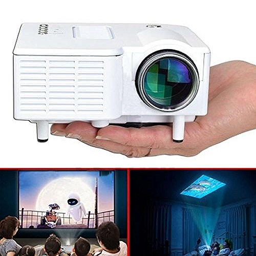 PAPE, Mini Home Cinema Theater 1080P HD Multimedia USB LED Projector AV TV VGA HDMI - Caro Siphon Cover