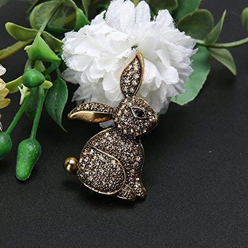 - 1 pc Retro Vintage Rabbit Bunny Brooch Pins for Women Alloy 2540mm Brooches