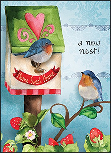 A New Nest Moving Address Change Announcement Cards Bluebirds and Strawberries10 ct -