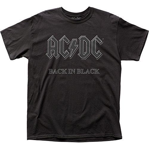 AC/DC Hard Rock Band Music Group Back In Black Adult T-Shirt Tee - Hard Rock Band Shirt