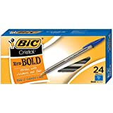 BIC Cristal Xtra Bold Ball Pen, Bold Point (1.6 mm), Blue, 24-Count