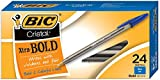 BIC Cristal Xtra Bold Ballpoint Pen, Bold Point (1.6mm), Blue, 24-Count