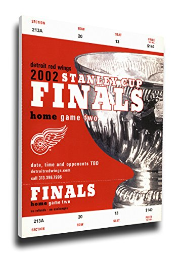 2002 Stanley Cup Mega Ticket Detroit Red Wings HDETMT02SC