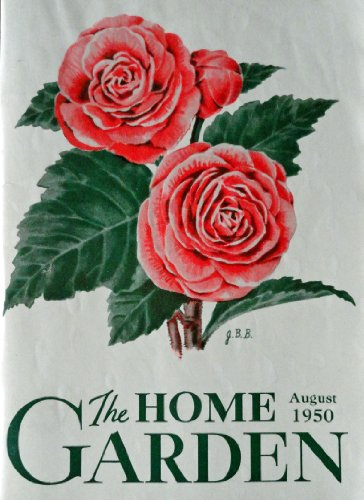 "John Burton Brimer, 50's Color Painting (Tuberous Begonias) 5 1/2"" x 7 1/2"" [cover] Print art, oringial vintage,1950 the Home Garden Magazine Cover Art***store link [www.amazon.com/shops/ads-thru-time]"""