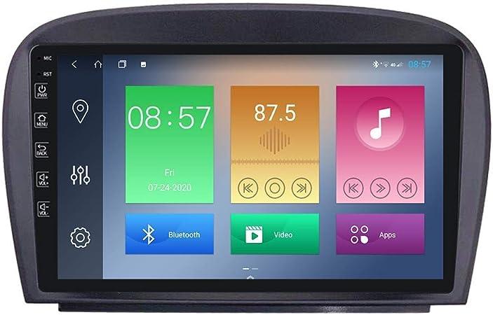 Lingjie Android Auto Stereo Radio Doppel Din Navi Für Benz Sl R230 Gps Navigation 9 Zoll Touchscreen Multimedia Player Navi System Video Receiver Mit Rückfahrkamera Sport Freizeit
