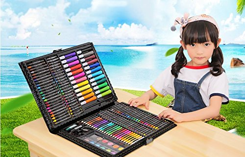 Tinpa 168 Pieces Art Supplies Drawing Pencils Set,Professional Water Colored Pens,Painting Brush Drawing Tool Set for Kids and Beginners by Tinpa
