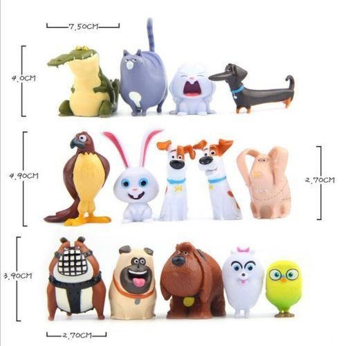 The Secret Life of Pets PVC Figure Movie Doll Toy Character Cake Toppers 14 pcs