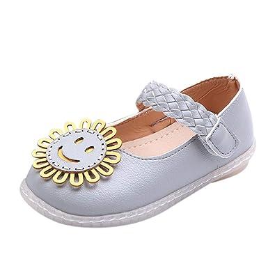 8a58626483187 Fille Chaussures de Princesse Ornés de Tissés à Fleurs Ballerines Fille  Chaussures de Princesse Plat pour Enfant BéBé Fille  Amazon.fr  Chaussures  et Sacs