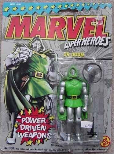 Dr Marvel Doom - Toy Biz Marvel Super Heroes Dr. Doom (Power Driven Weapons) Action Figure 4.75 Inches