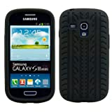 kwmobile High quality wheel case for Samsung Galaxy S3 Mini in black of soft TPU.