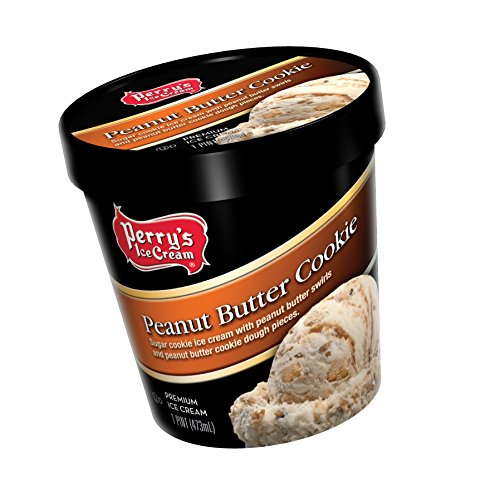 Perry's Ice Cream Pint, Premium, Peanut Butter Cookie - Pack of (York Peanut Butter)
