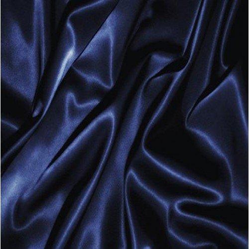 Bedding Emporium 100% Pure Silk Satin Sheet Set 7pcs, Silk Fitted Sheet 15'' Deep Pocket,Silk Flat Sheet,Silk Duvet Cover & Pillowcases Set !!! Queen, Navy Blue