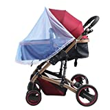 GUGER 2PCS Baby Mosquito Net ,Portable & Durable Insect Net,for Strollers,Car Seats cover ,Carriers (blue)