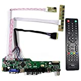 VSDISPLAY HDMI+VGA+CVBS+USB+RF+Audio LCD Motor Driver Board Controller Kit Work For 15.6'' 17.3'' B156HW01 LP173WF1 1920x1080 40Pin LCD Panel