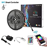Nexlux LED Strip Lights, 16.4ftWifi Wireless Smart Phone Controlled Light Strip Kit 5050 LED Lights,Working with Android and iOS System,Alexa, Google Assistant