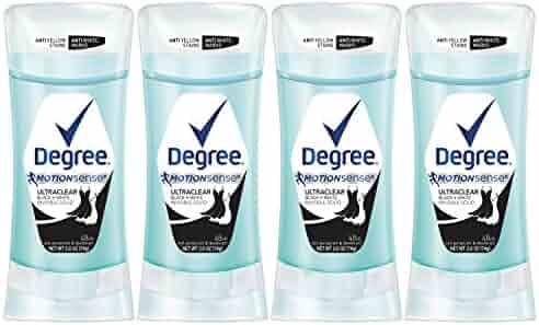 Degree UltraClear Antiperspirant Deodorant, Black + White, 2.6 oz, 4 count