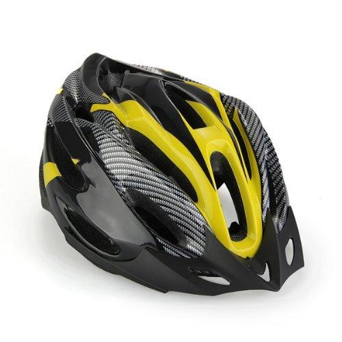 35 opinioni per Casco Bici MTB Ciclismo Adulto Regolabile Nero Giallo con Visiera Regolatore
