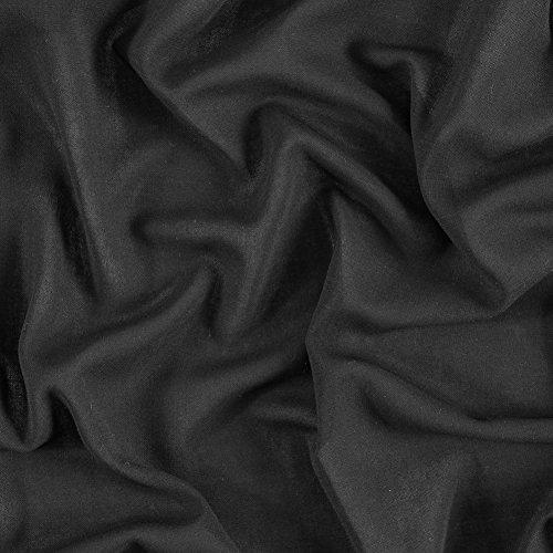 - Italian Black Stretch Wool Gauze