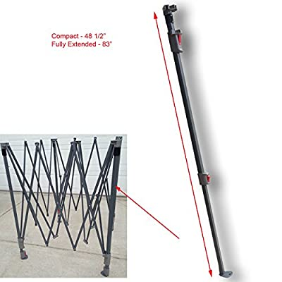 for Coleman 10' x 10' Straight Leg Instant Canopy Gazebo EXTENDED ADJUSTABLE LEG With SLIDERS & CAP Replacement Parts: Garden & Outdoor