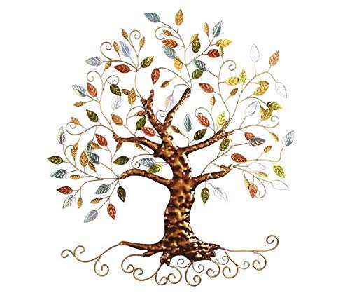 Tree of Life - Metal Tree Wall Sculpture, Gold Tree Home ()