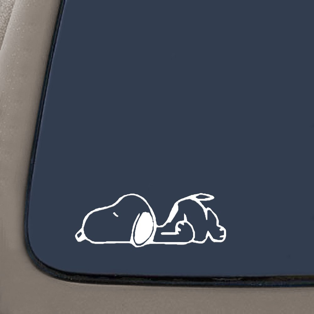 NI211 **2 Pack** Snoopy Car Decal Premium Quality White Vinyl Decal 5.5 CMI Sticker