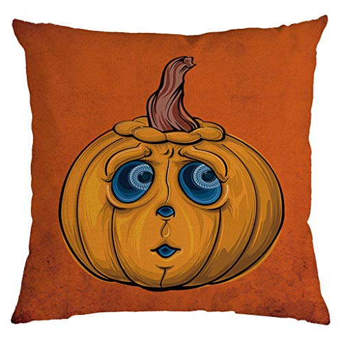 Jocome Throw Pillow Case,4Pc Halloween Pumpkin Ghost Pillow Case Home Decoration 18X18 Inch Throw Pillow Covers Home Decor Design Cushion Case for Sofa Bedroom Car -