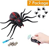 electronic joke - Remote Control Fake Spider Realistic Scary Prank Animal Toys RC Infrared Electronic for Party or Halloween Joke Gift for Kids Adults