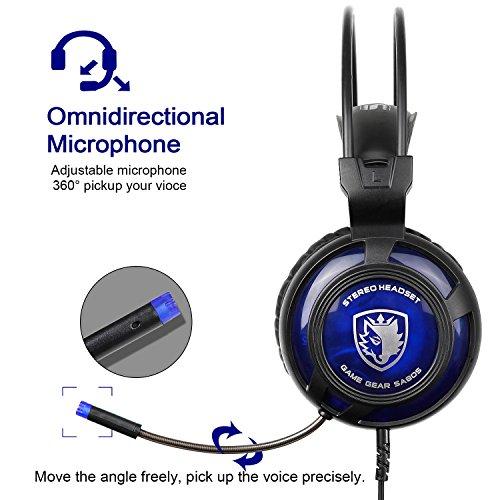 Cuffie Sades - modello SA 805 nero blu  Amazon.it  Strumenti musicali e DJ ffb2a3a7029b