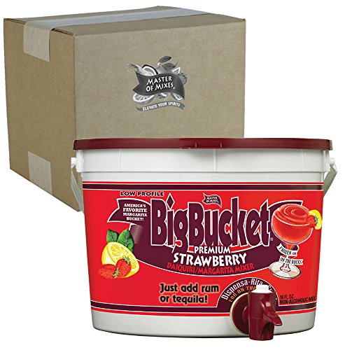 Master of Mixes Strawberry Daiquiri/Margarita Mix, Ready to Use, 96 oz Low-Profile BigBucket, Individually Boxed