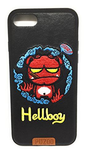 Hellboy iPhone 7/8 Phone Case, iPhone Case, StarShow Flexible Soft Gel TPU Cover Shell Skin with Stiching [Support Wireless Charging] [Slim Fit] for Apple 5.8