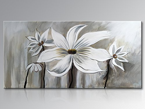 Seekland Art Large Canvas Wall Art Flower Lotus Oil Painting Wall