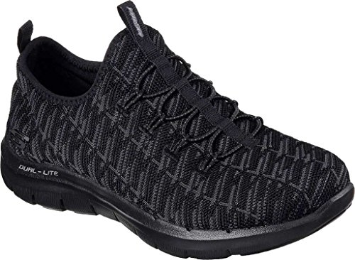 Skechers Womens Black Flex Appeal 2.0 - Insights Running Shoes Black