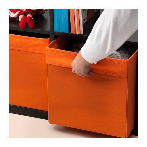 Ikea drona fabric storage box 13x15x13 organizer orange for Ikea in orange county