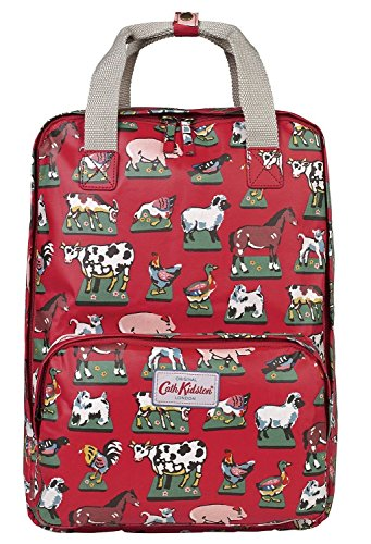 - Cath Kidston Matt Oilcloth Backpack Rucksacks Home Farm Color Red Fitting 13