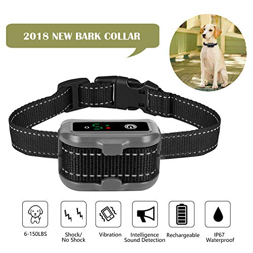 Cheap MEKUULA Rechargeable Dog Bark Collar[2018 NEWEST]anti barking collar for Small, Medium and Large Dog with Beep Vibration and Static Shock,petsafe bark collar,No Shock and Bark E-collar IP67 Waterproof