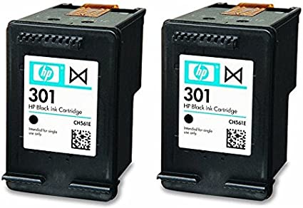 HP 2X Genuine Original 301 Black Ink Cartridges For Use with Envy ...