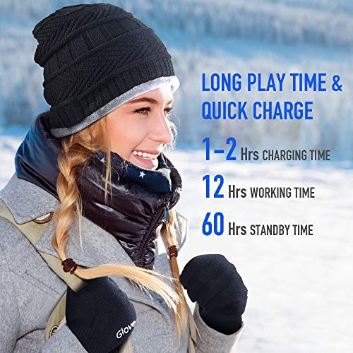 Bluetooth Beanie Hat Gifts for Men, V5.0 Bluetooth Beanie Hat with Wireless Headphone Speaker for Him/Dad/Teens, Men's…