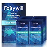 Fairywill Teeth Whitening Strips for Sensitive Teeth - Reduced Sensitivity Whitener strips, Gentle and Safe for Enamel, 3D Whitestrips Pack of 28 Strips