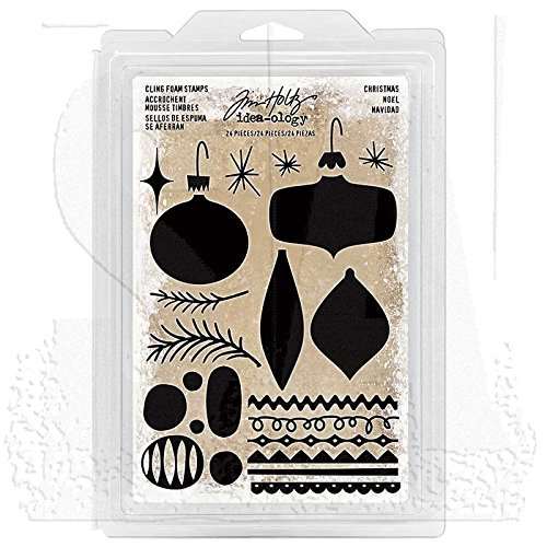 (Tim Holtz Idea-ology Cling Foam Stamps, Christmas Shapes)