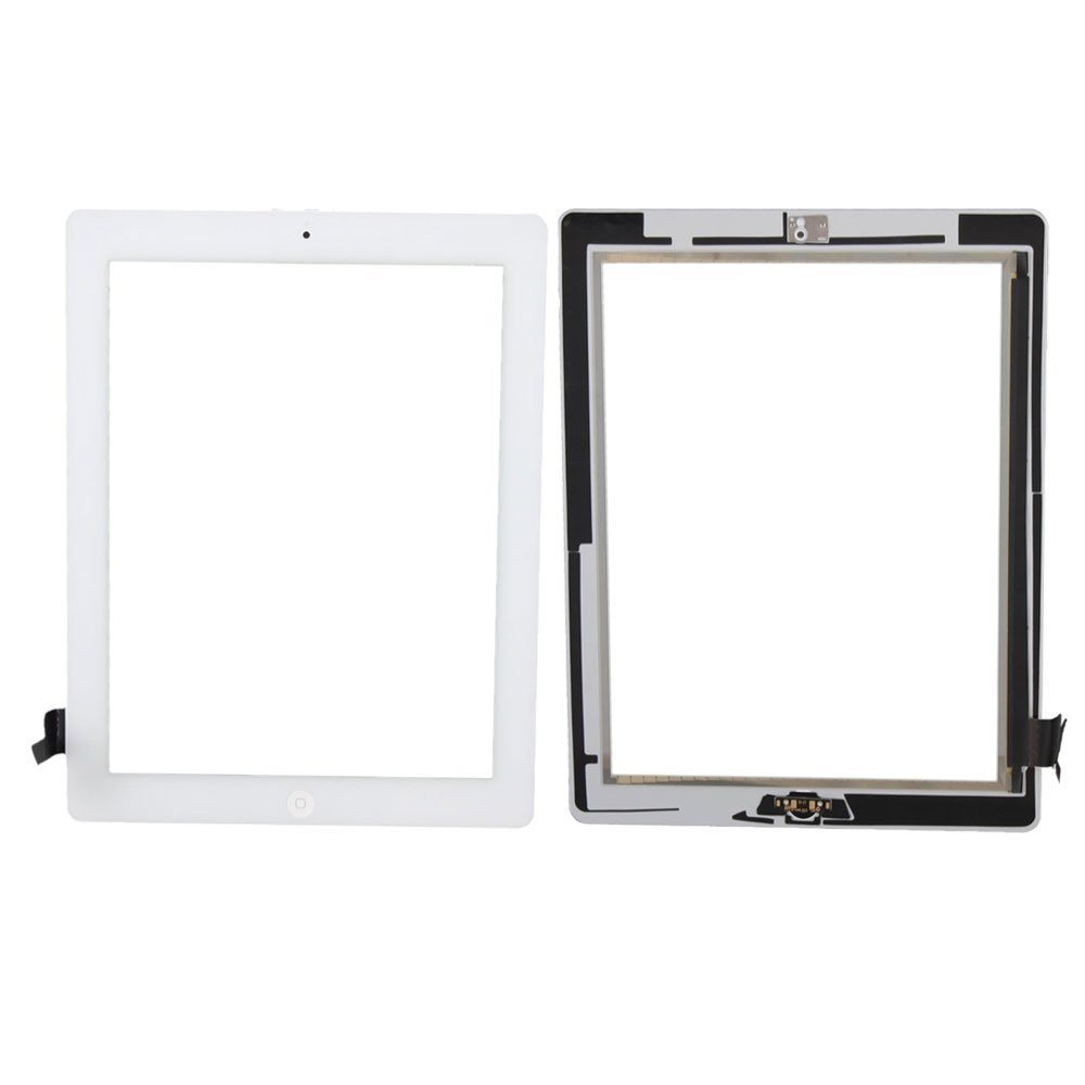 AT/&T//T-Mobile//Sprint//Verizon GSM CDMA White Repair Kit TechOrbits Replacement 9.7 Touch Screen Digitizer Glass for IPAD 2 with Home Button A1395 A1396 A1397