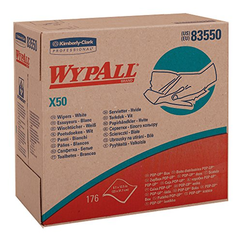 Wypall X50 Disposable Wipers , Strong for Extended Use, POP-