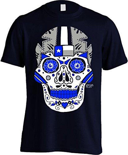 - America's Finest Apparel Dallas Sugar Skull Shirt - Men's (3XL) Navy