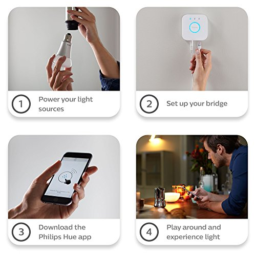 Philips Hue 464479 60W Equivalent White and Color Ambiance A19 Starter Kit, 3rd Generation, Works with Amazon Alexa by Philips (Image #8)