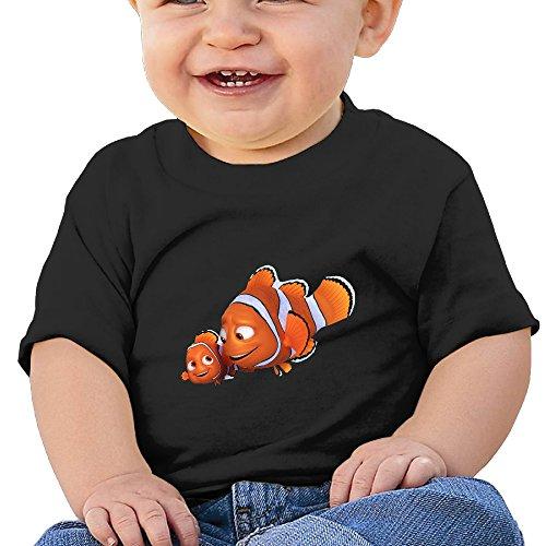 Kim Lennon Cartoon Nimo Fish Custom Infant Comfortable Tee Black Size 18 Months (Pourri Price Poo)