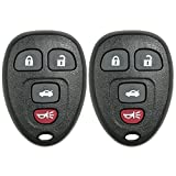 Canada Automotive Supply 2 New Keyless Entry 4 Button Remote Car Key Fobs for Select GM Chevrolet Pontiac Saturn and Buick