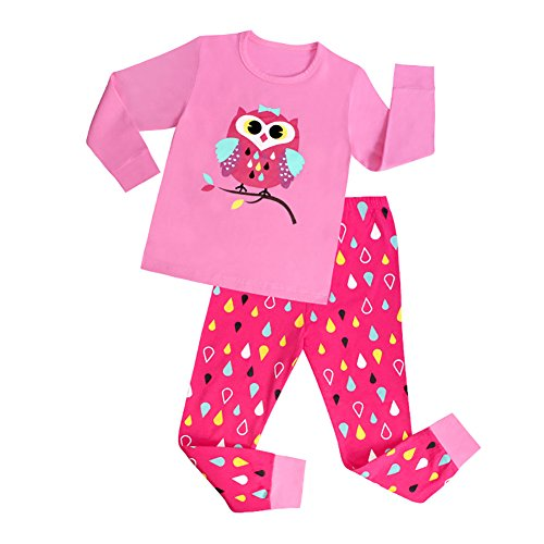 [VICVIK Baby and Little Boy Pink Pajama Sets 2 Piece 100% Cotton Size 2-7T (4T, Pink Owl)] (Cute Baby Boy Costumes Ideas)