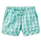Carter's Plaid Woven Shorts, Blue/White, 9 Months