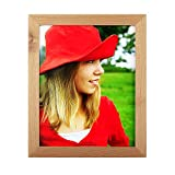 8x10 inch Picture Frame Made Solid Wood High Definition Glass Table Top Display Wall mounting Photo Frame Natural