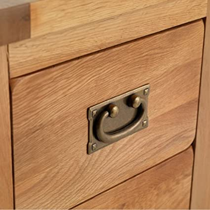 Mercers Furniture Rustic Oak Dressing Table Oak Amazoncouk - Rustic oak dressing table